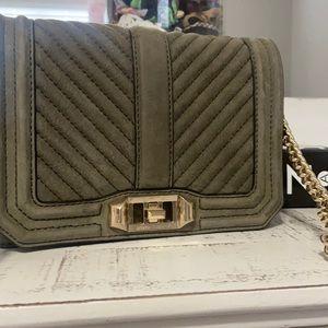 Rebecca Minkoff olive suede crossbody bag